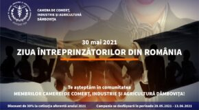 30 mai- Ziua Întreprinzătorilor din România. Camera de Comerț lansează o campanie promoțională pentru întreprinzătorii care doresc să se înscrie în comunitatea MEMBRILOR CCIA Dâmbovița